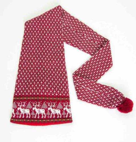 100% Wool Hat-Scarf 'DEER'