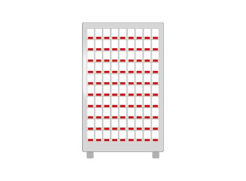 WENDY24 module 90 petits casiers blancs