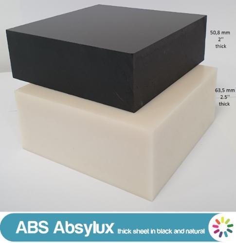 Absylux (ABS): semiacabado mecanizable en barras y placas