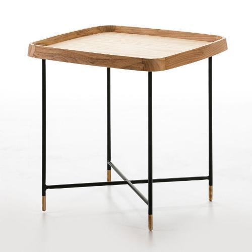 Hilfstisch 50x50x53 Holz/metall Schwarz/golden - Niedrige Tische