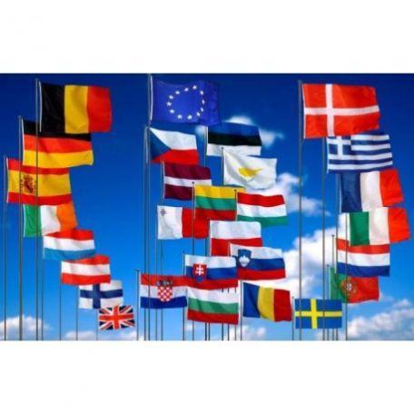Pavillons Officiels Des Pays De L'europe À Hisser
