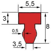 Joint silicone profilé pour MECAPACK