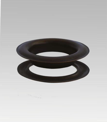 """Round #18 (2 1/2"""") Grommets And Washers – Oil Rubbed Bronze."""
