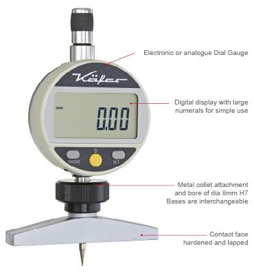 Dial Depth Gauges | analogue and digital | metric / inch
