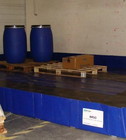 Bac de rétention souple pliable - 5250 litres - bac...