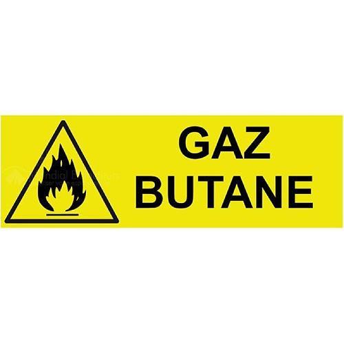 Panneau danger gaz butane 200 x 80 mm