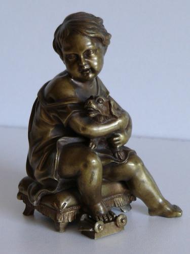 ENFANT ET SON CHIEN REF. 1025