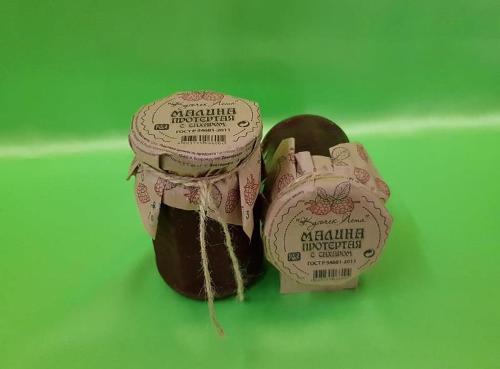 Малина протертая с сахаром