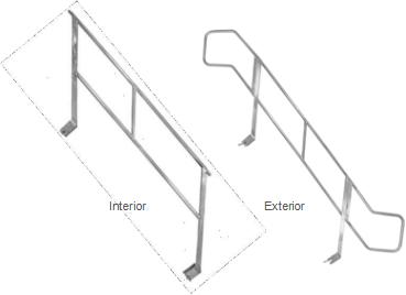 Barandilla de Aluminio para Escalera Z