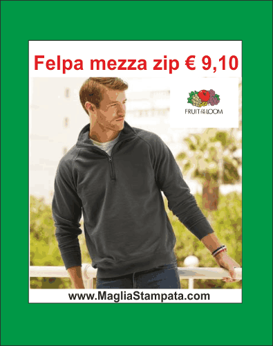 Felpe Fruit of the loom personalizzate o neutre