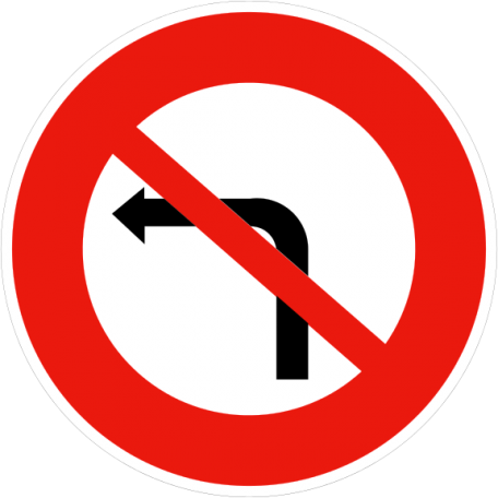 Panneau B2a Ou B2b Interdiction De Tourner À Gauche Ou À Droite