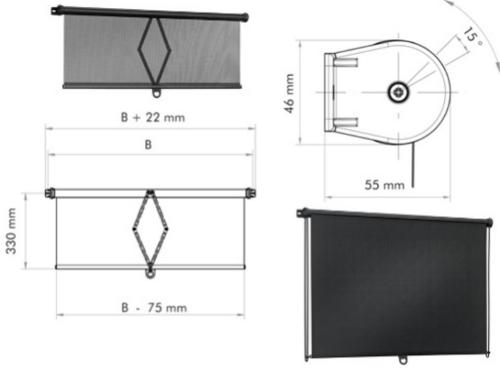 Scissor and other rollerblinds