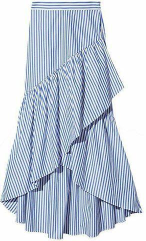 wrap around striped skirt