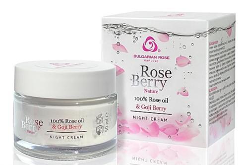 Creme De Nuit,rose Berry Nature Et Beurre De Karité, 50 Ml