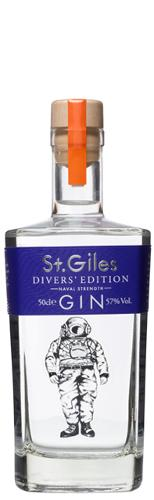 ST. GILES DIVERS' EDITION GIN (NAVAL STRENGTH) 50cl 57% ABV