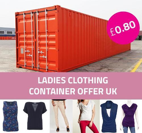 صفقة الحاوية: ملابس السيدات بالجملة المملكة المتحدة