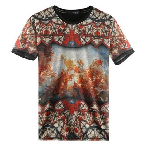 Mens allover full print t shirt