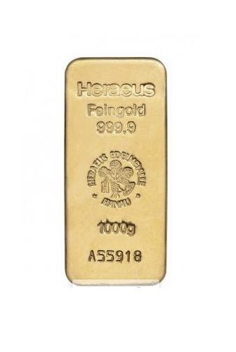 1 Kilogramm Goldbarren (Heraeus)