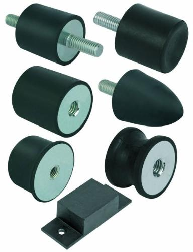 Gummi-Metall-Puffer Stahl oder Edelstahl