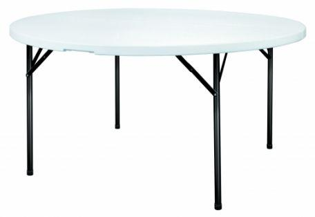 Table polypro ronde 154 cm
