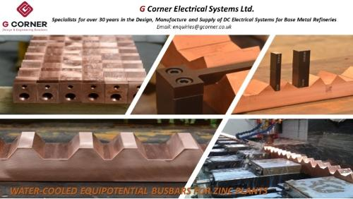 Water Cooled Equipotential Busbars for Zinc Plants