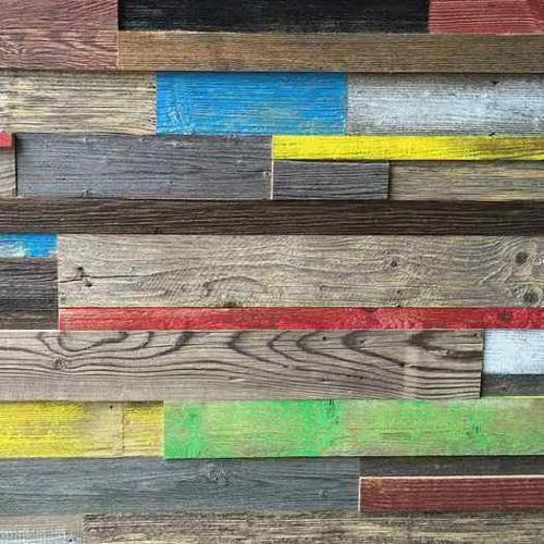 Painted barn wood