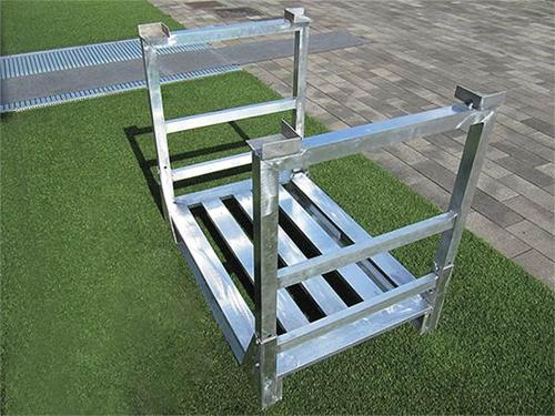 EUR EPAL Pallet in alluminio sovrapponibile