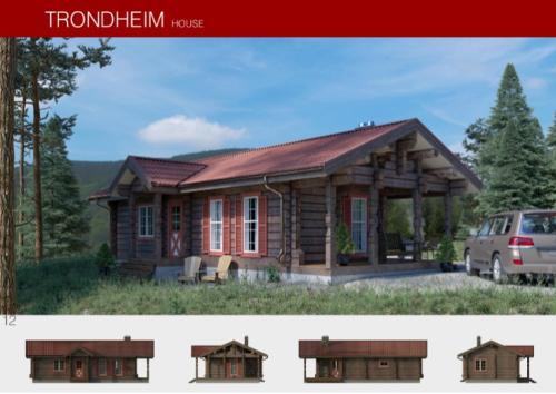 Prefabricated wooden house TRONDHEIM
