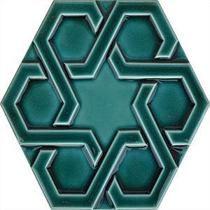 porselen geometrik altıgen çini karo modeli