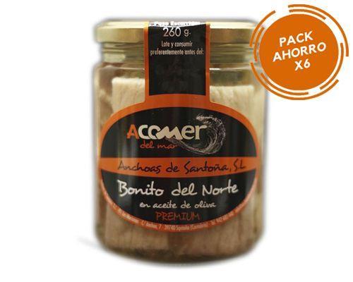 Pack Ahorro 6 Tarros de Bonito del Norte en Aceite de Oliva 400 grs