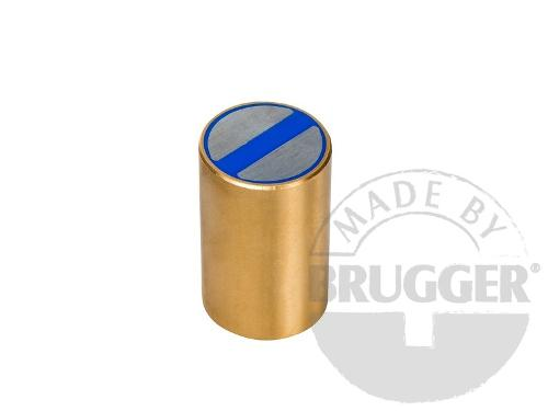 Bar magnet NdFeB, brass body with fitting tolerance h6