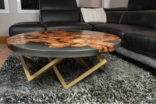 Table basse epoxy