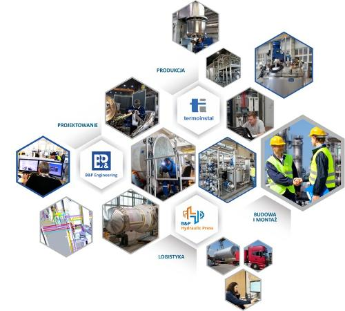 Grupa B&P zajmuje się kompleksową realizacją projektów.