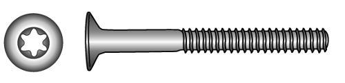 Senkschrauben mit TX-Innensechsrund-Antrieb