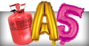 Folienballons und Helium Gas