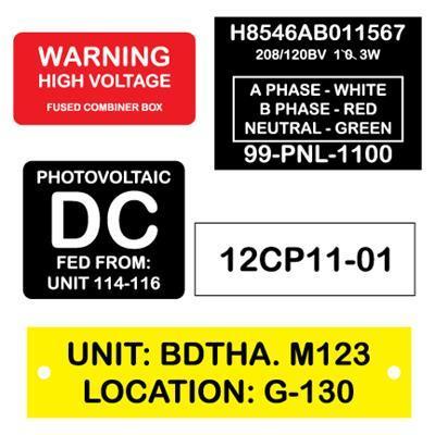 Phenolic Labels