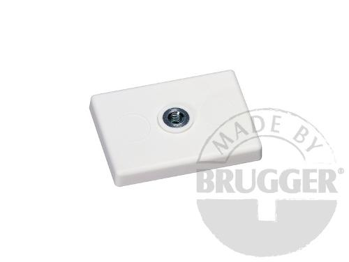 Magnet assembly, NdFeB, rubber coat white, with...