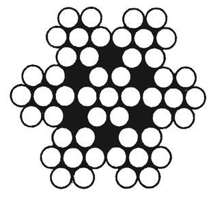 Edelstahl-Drahtseil, mittelweich 7 x 7 (mit 1.570 N/mm²)