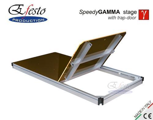 Speedy Gamma stage with trap-door