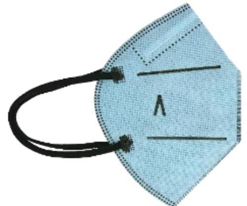 Hygienic Mask Plus Reusable LIGHT BLUE