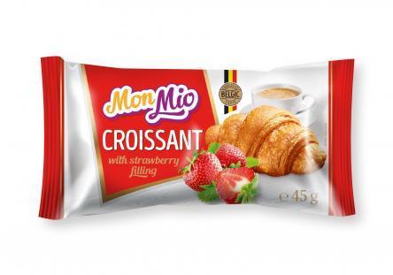 Croissant fourré à la fraise 45g - MONMIO