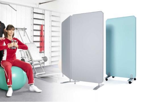 Oktagon Hygieneschutz Stellwand, mobil + flexibel