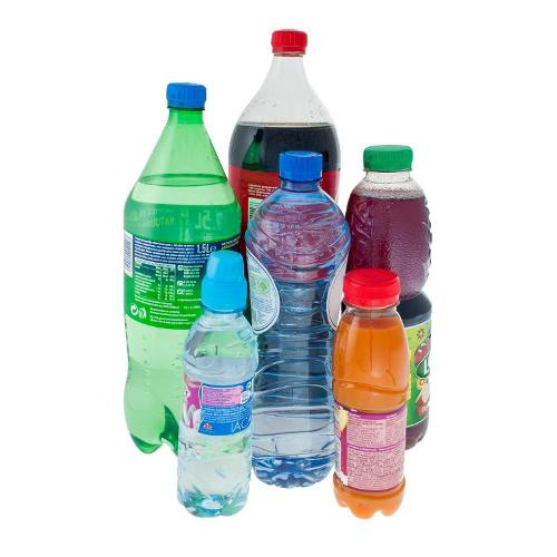 Stretch films for pallets of plastic bottles