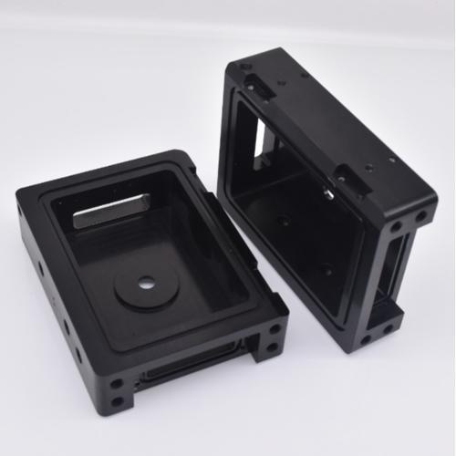 CNC milling black anodized aluminum enclosure