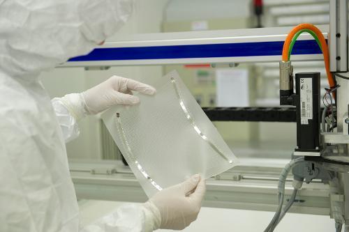 Heizmatten für Glasheizsysteme in laminiertem Glas