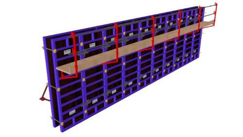 Coffrage modulaire: Banche métallique peau coffrante bois
