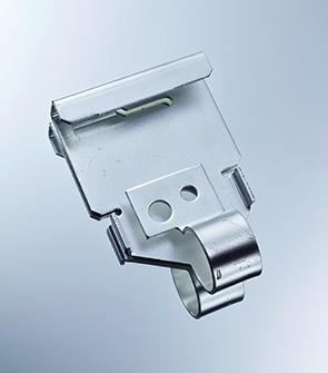 Locking plate made of hardened, galvanized and heat-treated