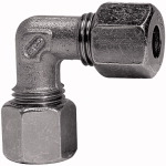 Angled fitting, Pipe exterior 22 mm, galvanised steel