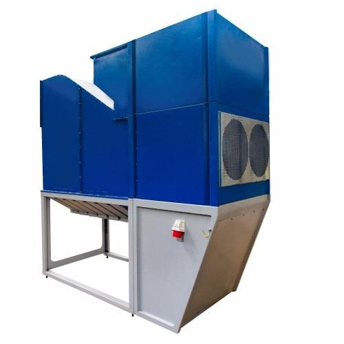 Aerodynamic fractional separator of grain, capacity 40 t/h
