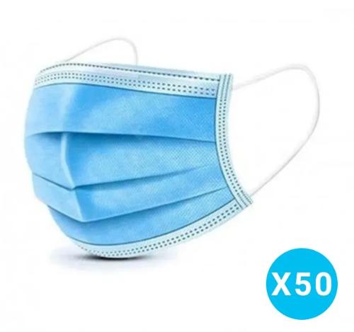 Boite De 50 Masques Chirurgicaux 3 Plis